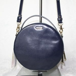 BRAHMIN LANE NAVY TOPSAIL LEATHER CROSSBODY